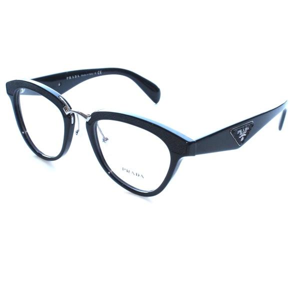 df73f4daa8 Prada VPR 26S 1AB-1O1 Black Ornate Eyeglasses 51mm.  M 5a73464ccaab4446f8993040